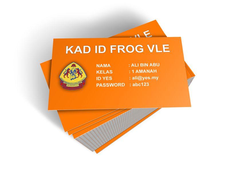 Cara Buat Kad ID Frog VLE