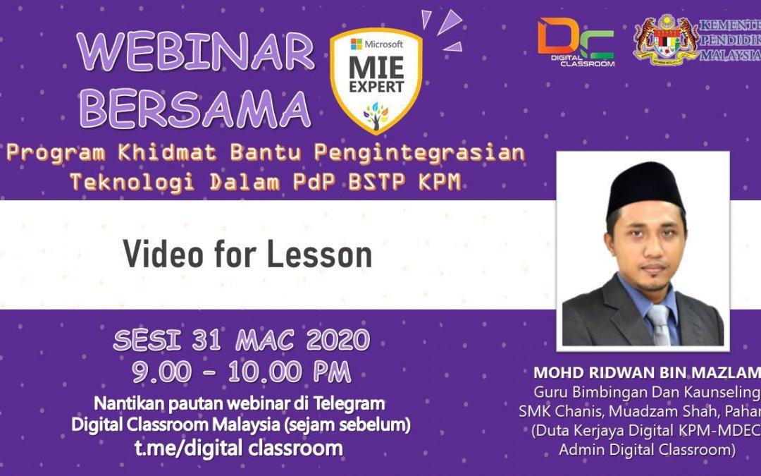 Video for Lesson Webinar Malam ini