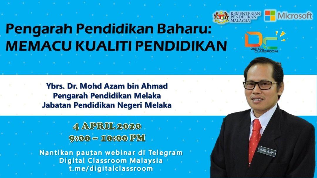 Sembang Santai Malam ini bersama Pengarah Pendidikan Melaka