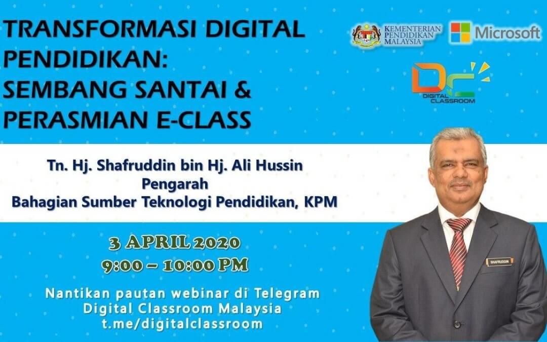 Sembang Santai dan Perasmian E-Class Digital Classroom bersama Pengarah BSTP, KPM