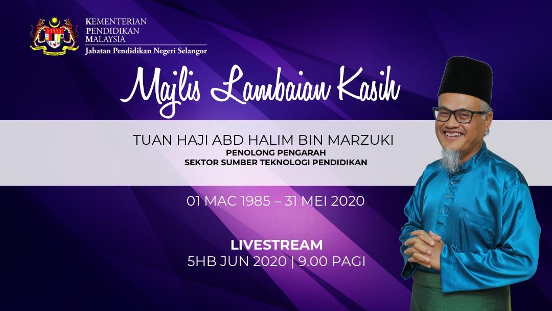 Livestream : Majlis Lambaian Kasih Persaraan Tn Haji Abd Halim bin Marzuki