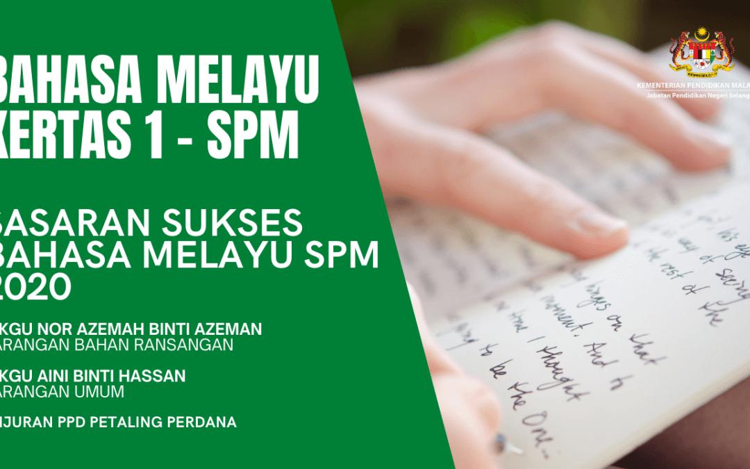 Live Bahasa Melayu Kertas 1 – BM
