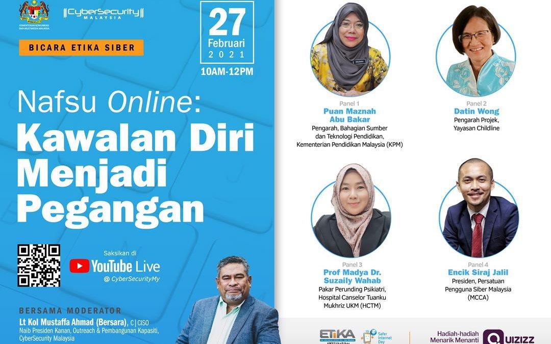 BICARA ETIKA SIBER:Nafsu Online: Kawalan Kendiri Menjadi Pegangan